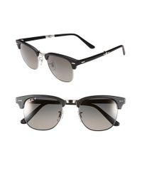 Ray-Ban Black 'clubmaster' 51mm Folding Sunglasses for men