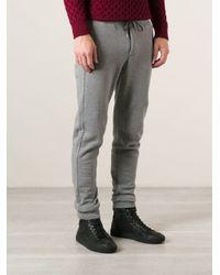 Moncler Gray Slim Track Pants for men
