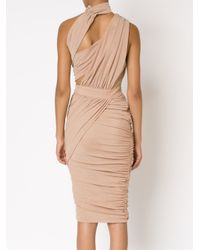 Misha Collection - Pink One Shoulder Fitted Dress - Lyst