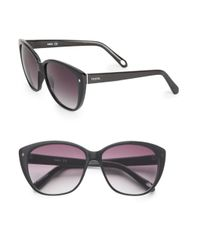 Fossil | Black 58mm Squared Cat's-eye Sunglasses | Lyst