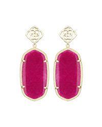 Kendra Scott | Pink Davey Jade Drop Earrings | Lyst