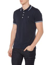 DIESEL - Blue T-oin Double Tipped Logo Polo for Men - Lyst