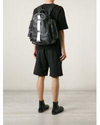 Givenchy - Black Strap Detail Backpack for Men - Lyst