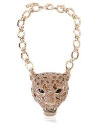 Roberto Cavalli | Metallic Topaz & Gold Plated Leopard Choker | Lyst