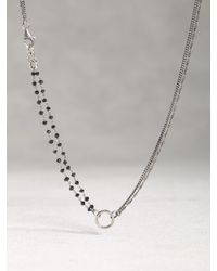 John Varvatos | Metallic Silver & Black Bead Necklace | Lyst
