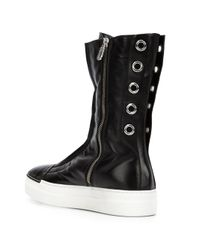 Rocco P - Black Mid-calf Length Boots - Lyst