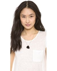 Marc By Marc Jacobs Metallic Guitar Pick Necklace Black Glitter