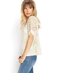 Forever 21 - White Contemporary Crochet Lace Knit Top - Lyst