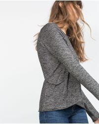 Zara | Gray Sweater With Side Pockets | Lyst