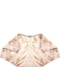 Alexander McQueen - Pink Lace Print De Manta Clutch - Lyst