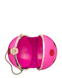 kate spade new york - Pink Dot Ornament Clutch - Lyst