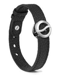 Philip Stein | Black Leather Horizon Bracelet for Men | Lyst