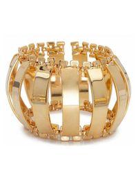 Lele Sadoughi | Metallic Modern Garden Caterpillar 14K Gold Brass Cuff Bracelet | Lyst