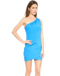 Ramy Brook Blue Jasmine One Shoulder Dress Pool
