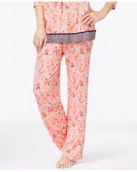 Ellen Tracy | Orange Autumn Escape Pajama Pants | Lyst