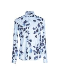 KENZO - Blue Shirt for Men - Lyst