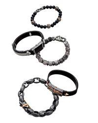 Stephen Webster - Black Union Jack Leather Bracelet for Men - Lyst