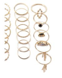 Forever 21 | Metallic Twisted Ring Set | Lyst