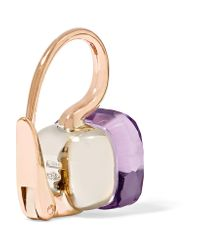 Pomellato - Metallic Nudo Classic 18-karat Rose Gold Rose De France Amethyst Earrings - Lyst