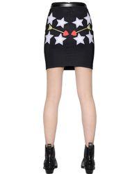 Maria Escoté - Black Printed Stretch Techno Canvas Skirt - Lyst