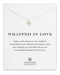 Dogeared - Metallic Wrapped In Love Reminder Necklace - Lyst