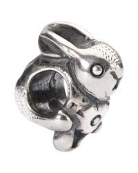 Trollbeads | Metallic Easter Bunny Sterling Silver Charm | Lyst