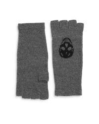 Skull Cashmere Gray Luther Skull Wool & Cashmere Fingerless Gloves