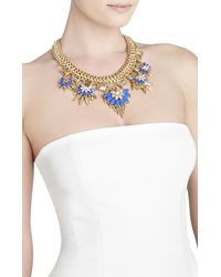 BCBGMAXAZRIA - Blue Floralstone Chain Necklace - Lyst
