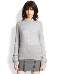 The Kooples - Gray Zip-back Textured Sweater - Lyst