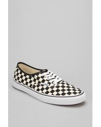 867e4aa1ad Lyst - Vans Authentic Checkerboard Mens Sneaker in Black for Men