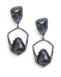 Alexis Bittar | Metallic Hematite & Crystal Doublet Geo Drop Earrings | Lyst