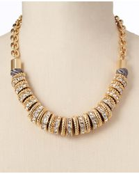 Ann Taylor | Metallic Flouret Rings Necklace | Lyst