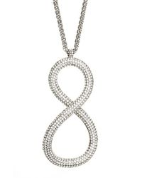 Lafayette 148 New York | Gray Infinity Pave Pendant Necklace - Crystal | Lyst