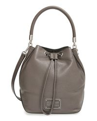 Marc By Marc Jacobs | Gray 'too Hot To Handle' Drawstring Bucket Bag | Lyst