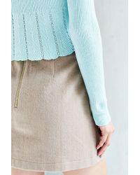 Kimchi Blue Blue Pointelle Babydoll Sweater