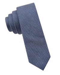 Calvin Klein | Blue Textured Silk-blend Tie for Men | Lyst