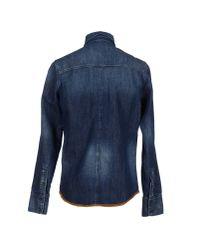 Nudie Jeans Blue Denim Shirt for men