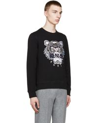 KENZO Ssense Exclusive Black Tiger Logo Sweatshirt for men