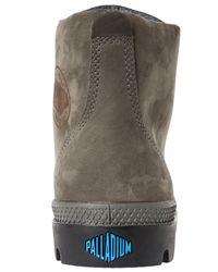 Palladium Gray The Pampa Hi Leather Gusset Boot for men
