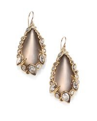 Alexis Bittar - Metallic Imperial Lucite & Crystal Lace Teardrop Earrings - Lyst
