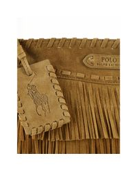 Polo Ralph Lauren - Brown Suede Cross-Body Bag - Lyst