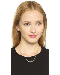 Gorjana | Metallic Harper Rectangle Necklace - Gold | Lyst