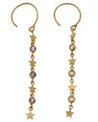 Marie-hélène De Taillac Metallic Star Drop Earrings