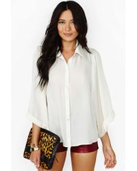 Nasty Gal | Natural Sleepless Nights Blouse | Lyst