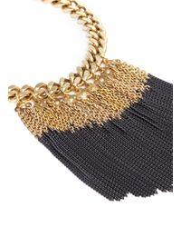 Ela Stone - Metallic Anita Chain Fringe Plastron Necklace - Lyst