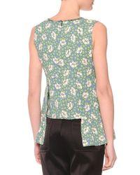 Marni Green Flower Print Sleeveless Top