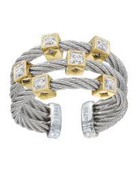 Charriol - Metallic Diamond Cubestation Cable Ring Size 65 - Lyst