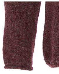 Nudie Jeans Purple Plum Vladimir Alpaca Melange Knit for men