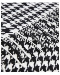 Barbour Black Houndstooth Stole
