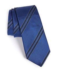 Lanvin - Blue Stripe Tie for Men - Lyst
